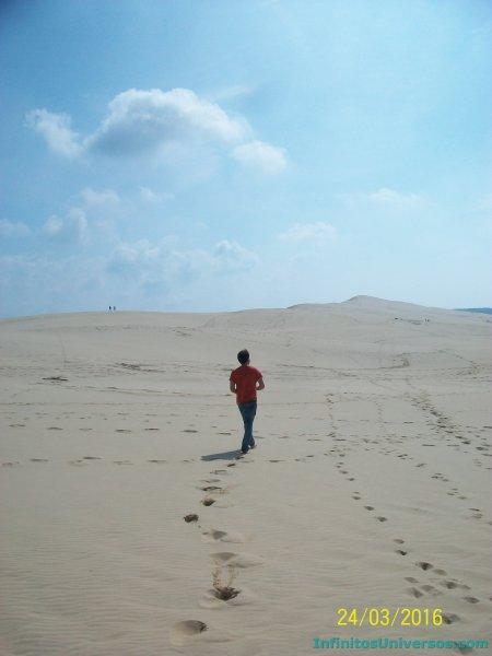 Duna du pilat - dune du Pilat mapa sur de Francia  mapa sur de Francia