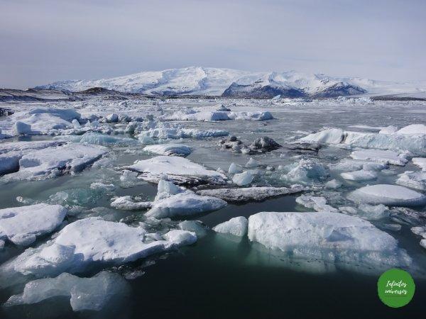 Lago glaciar Jökulsárlón playa de los diamantes