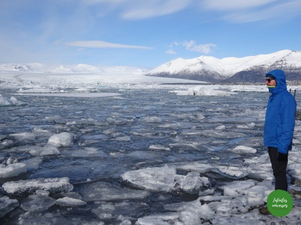 Lago glaciar playa de los diamantes