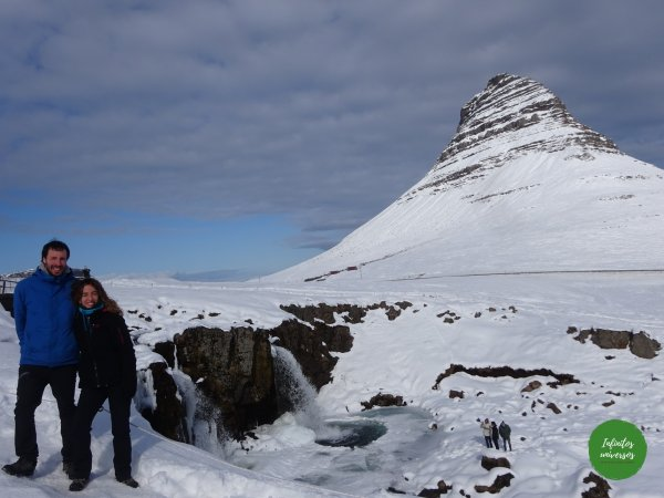 Kirkjufell cascadas de Islandia