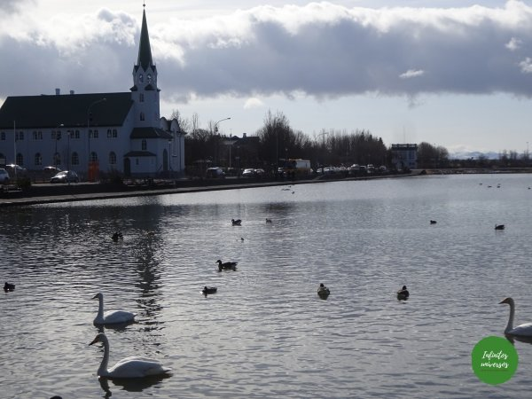 Lago Tjörnin Reikiavik