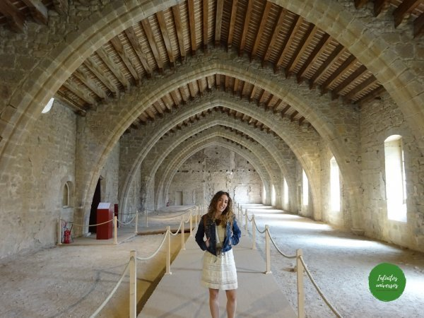 Abadía de Lagrasse sur de Francia mapa