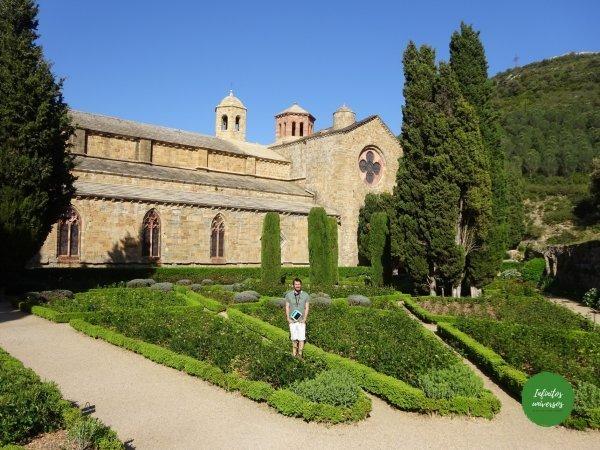 abadía de fontfroide sur de Francia mapa