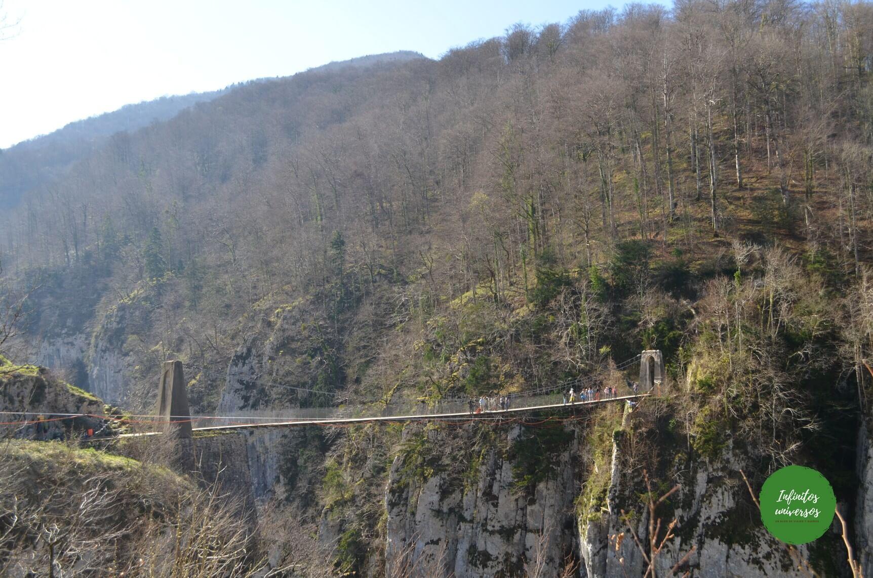 Excursión al puente colgante de Holtzarte (Francia)