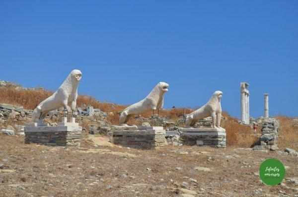 Yacimiento arqueológico de la isla de Delos