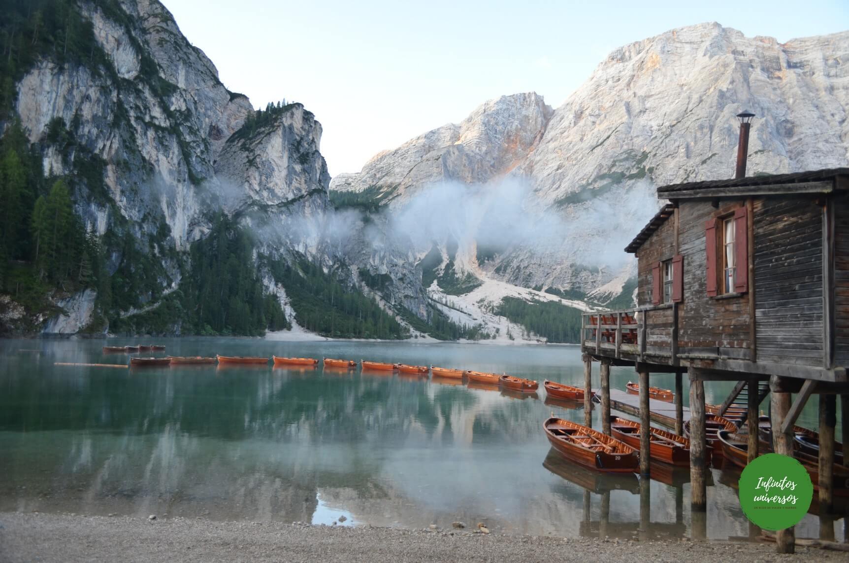 Lago di Braies, paisajes de ensueño en los Dolomitas