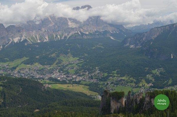 Vistas del trekking dolomitas